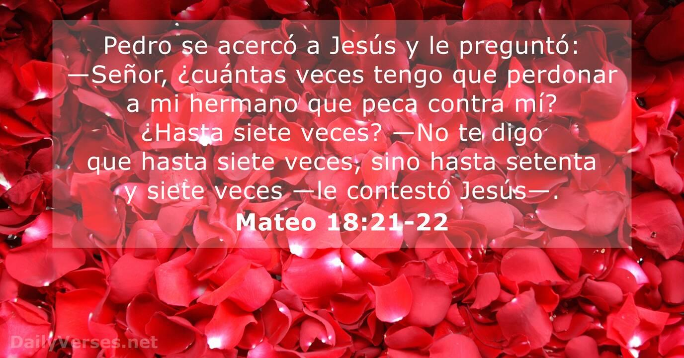 Mateo 18 21 22 Versículo De La Biblia Del Día Dailyverses Net