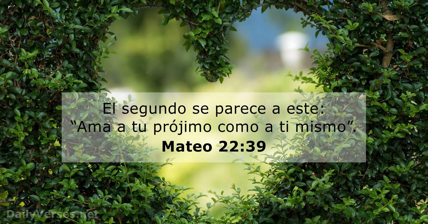 Mateo 22 39