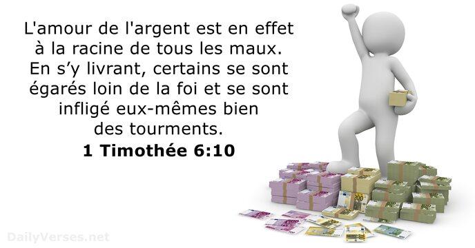 1 Timothée 6:10