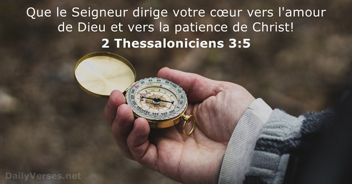 2 Thessaloniciens 3:5