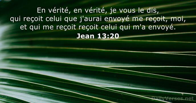 Jean 13:20