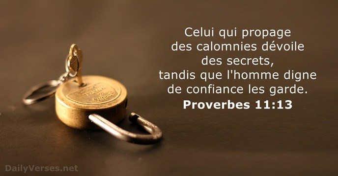 Proverbes 11:13