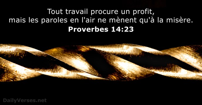 Proverbes 14:23