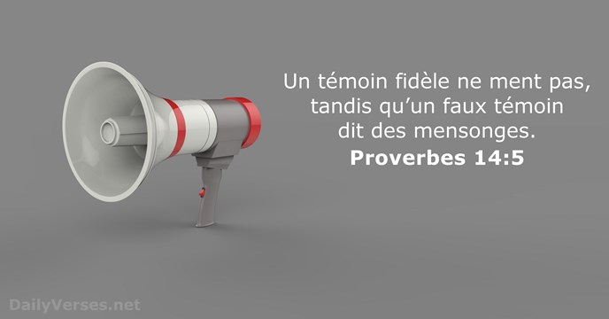Proverbes 14:5