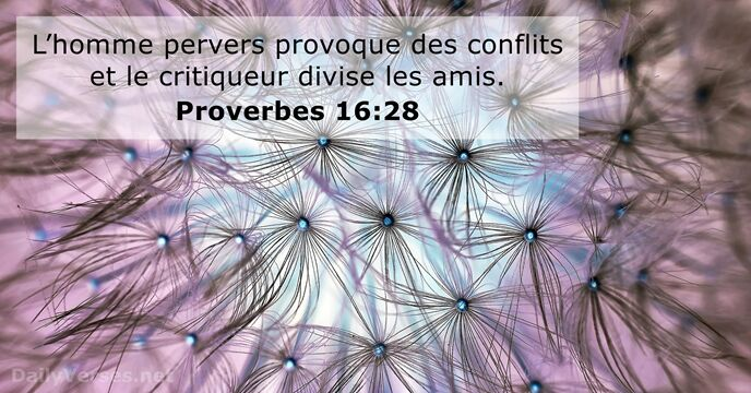Proverbes 16:28