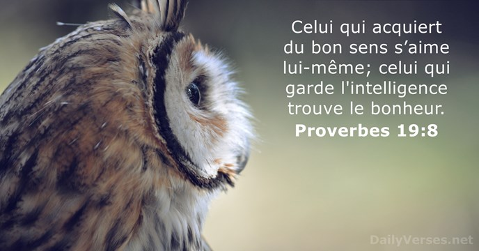 Proverbes 19:8