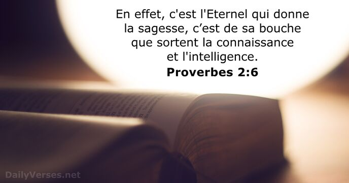 Proverbes 2:6