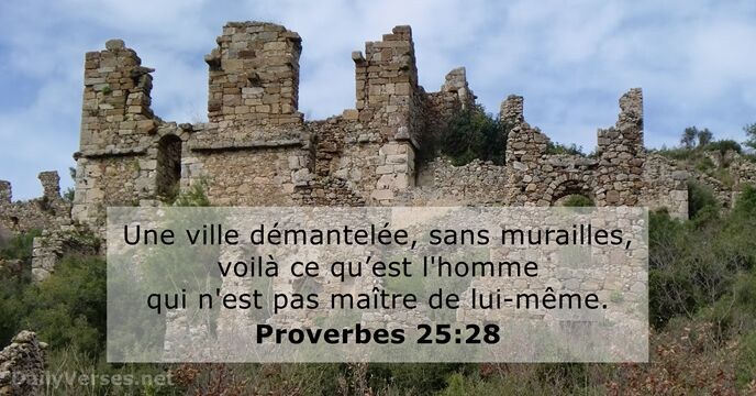 Proverbes 25:28