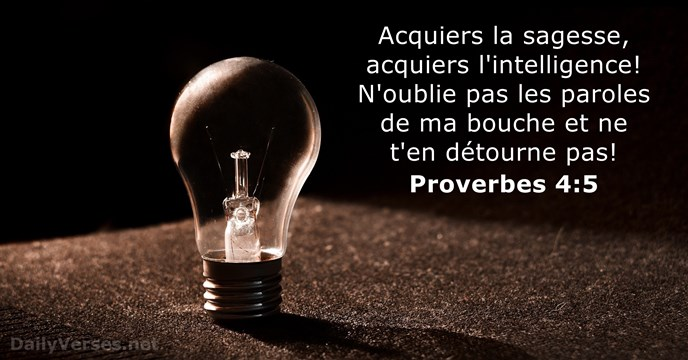 Proverbes 4:5