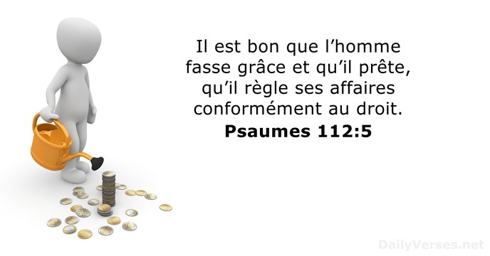 Psaumes 112:5