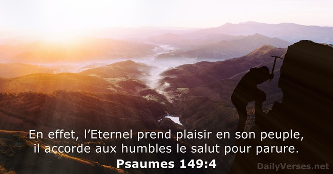 Psaumes 149:4