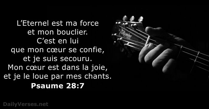 Psaume 28:7