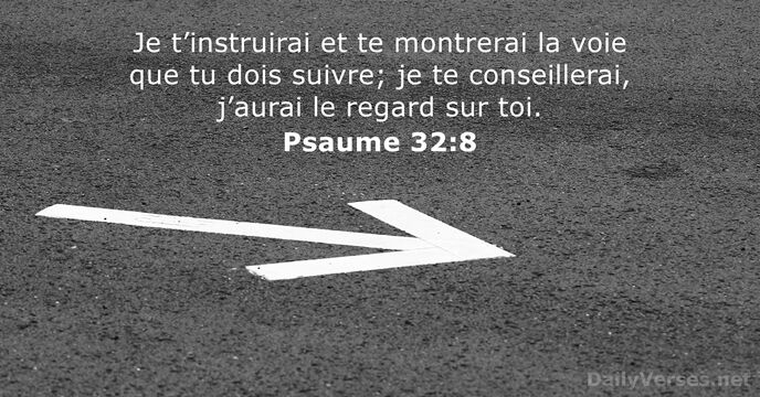 Psaumes 32:8