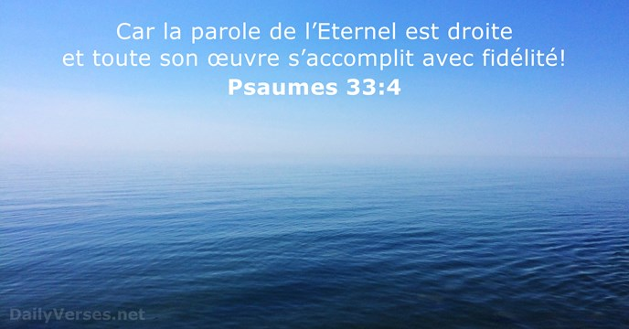 Psaumes 33:4