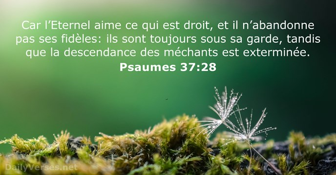 Psaumes 37:28