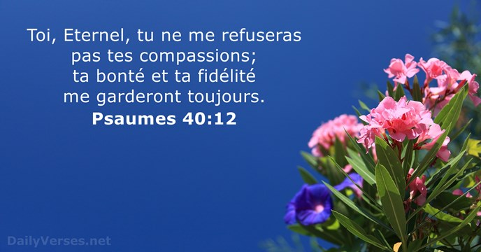 Psaumes 40:12