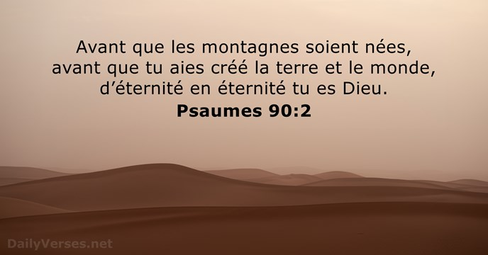 Psaumes 90:2