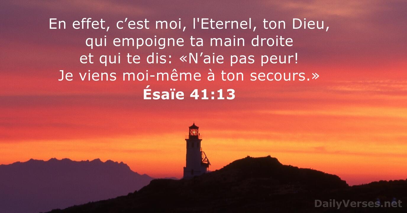 Ésaïe 41:13 - Verset de la Bible - DailyVerses.net