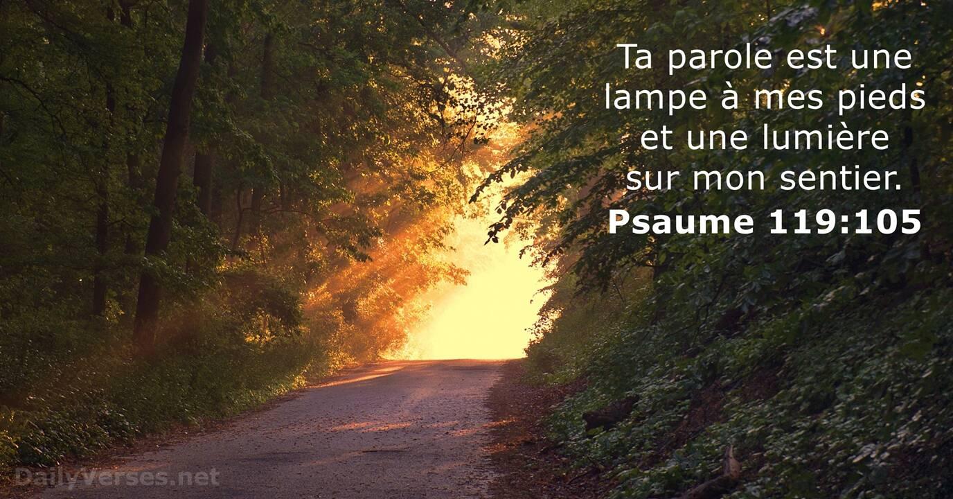 Psaumes 119:105 Poster digital \u00e0 imprimer