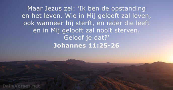 Johannes 11 25-26