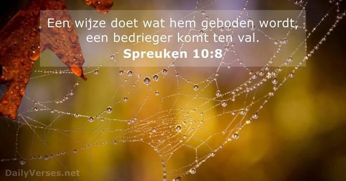 spreuken 10 23 november 2016   Bijbeltekst van de dag   Spreuken 10:8  spreuken 10