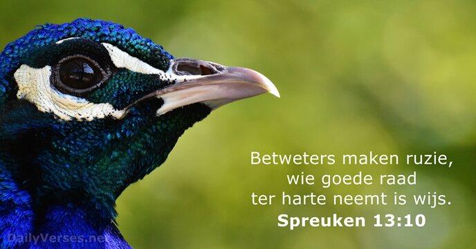 spreuken 13 27 juni 2018   Bijbeltekst van de dag   Spreuken 13:10  spreuken 13