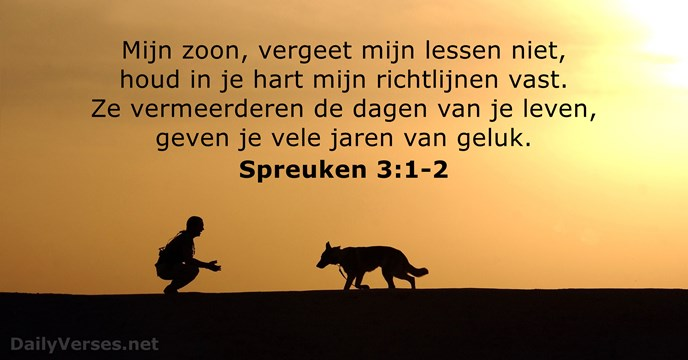 spreuken 3 3 Spreuken 3:1 2   Bijbeltekst van de dag   DailyVerses.net spreuken 3 3