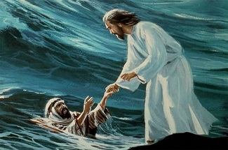 Jesus walked on water