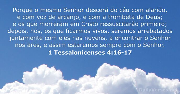 1 Tessalonicenses 4:16-17