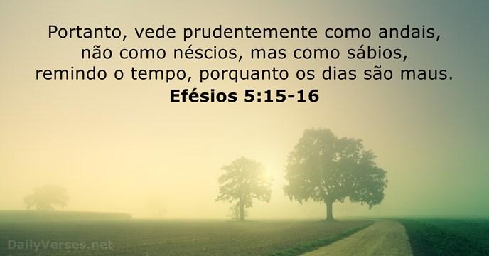 efesios 5:15-16