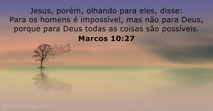 Marcos 10:27