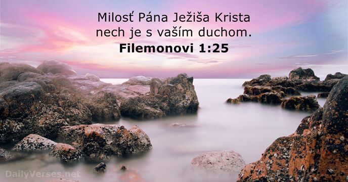 Filemonovi 1:25